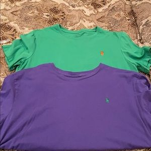 Two Men's Polo Ralph Lauren short sleeve t shirts!